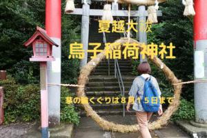 夏越大祓 茅の輪くぐり 烏子稲荷神社