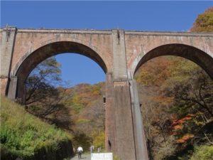 碓井第三橋 めがね橋 紅葉