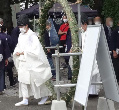 茅の輪くぐり 咲前神社